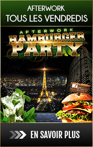 Afterwork tous les vendredis soirs : Hamburger Party, after work Paris hamburger, before afterwork, vue toits de Paris